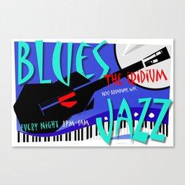 Modernist Blues / Jazz venue poster Canvas Print