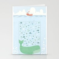 fishing Stationery Cards featuring Fishing by Ikas Alviansyah