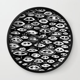 The Third Eye Black Wall Clock