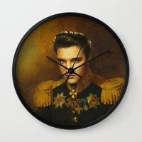 replaceface Wall Clocks featuring Elvis Presley - replaceface by replaceface