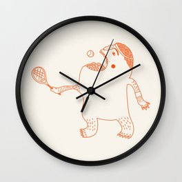 Game, Set and Munch Wall Clock