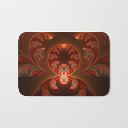 Fractal Mysterious, Warm Colors Are Shining Bath Mat