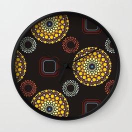 Dots Mandala Colorful Pattern Design Boho Style Decor Wall Clock