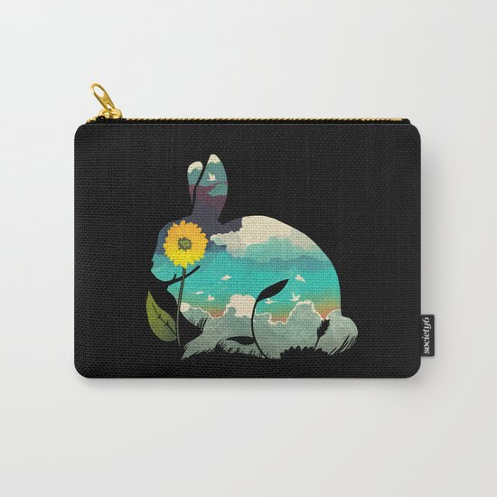 Rabbit Sky Carry-All Pouch