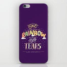 Rainbow and Tears iPhone Skin