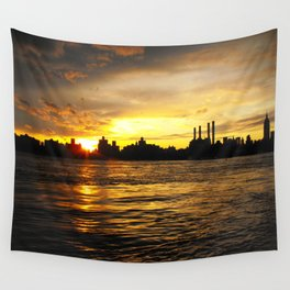 New York Sunset Wall Tapestry