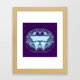 Some there out in the he space Framed Art Print