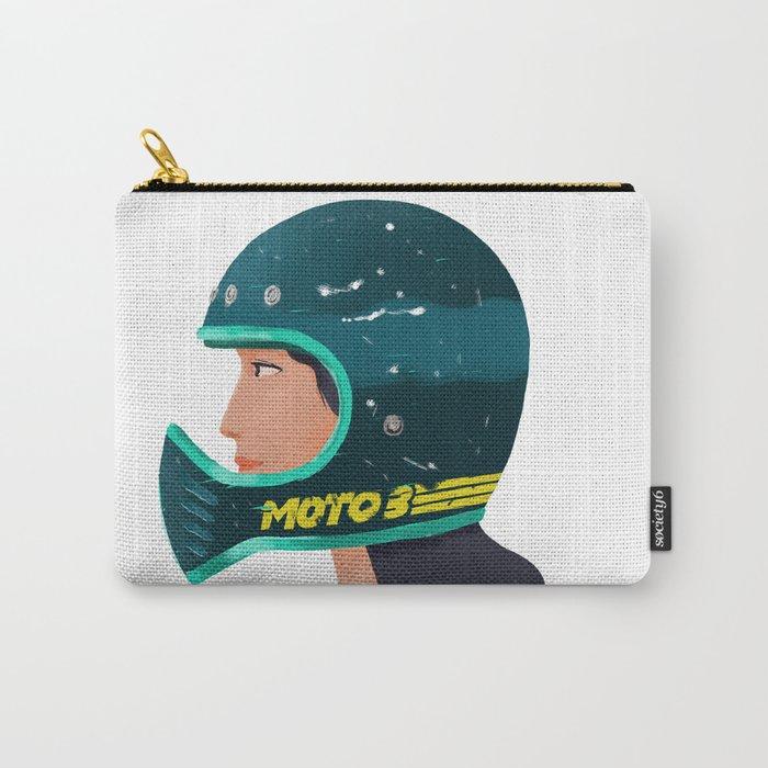 Girl on Helmet Carry-All Pouch