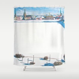 Frozen Rīga II Shower Curtain
