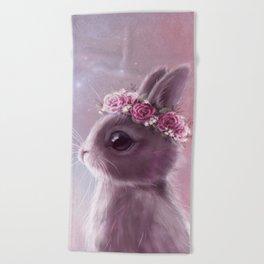 Fairy bunny Beach Towel