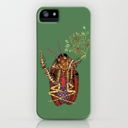 Cockroach all dressed up and ready to go paint the town iPhone Case