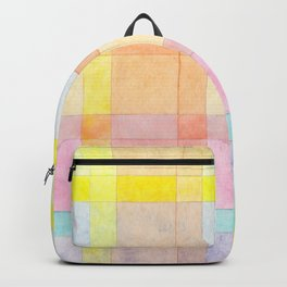Pastel colored Watercolors Check Pattern Backpack