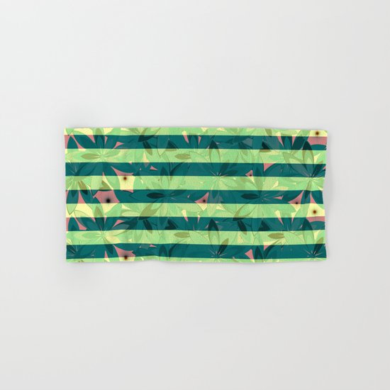 Vegetation-stripes Hand & Bath Towel