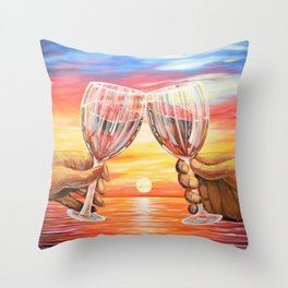 Our Sunset Throw Pillow
