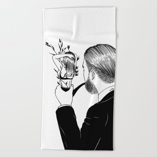 Man In Love Beach Towel