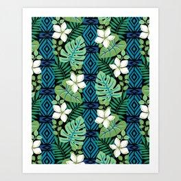 Tropical White Flowers Art Print