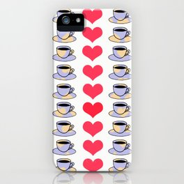 Hearts and Coffee iPhone Case