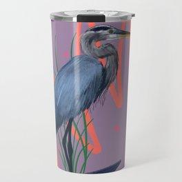 Great blue on the Bayou Travel Mug