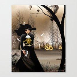 Dark Steampunk Art 'Airship Pirate' Canvas Print