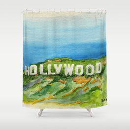 Hollywood Sign - An American Cultural Icon Shower Curtain