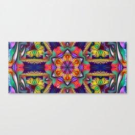 Fractal Elliptic Splits Kaleidoscope Canvas Print
