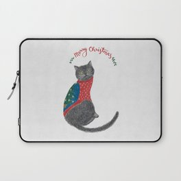 Cat in christmas sweater Laptop Sleeve