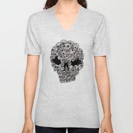 Skulls...so many Unisex V-Neck