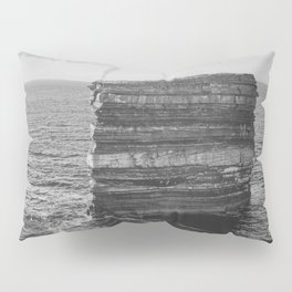 Dun Briste II Black and White Pillow Sham