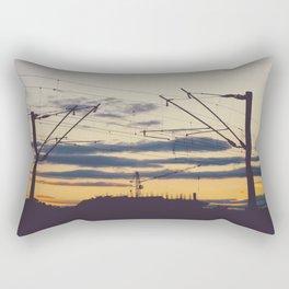 Sunset under construction Rectangular Pillow