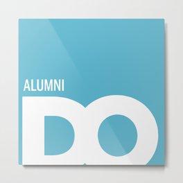 Cropped D.O. Alumni Logo Metal Print