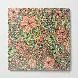 Floral delicate pattern Metal Print