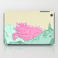 kaiju iPad Cases featuring Kaiju Naptime by Dickie Danger