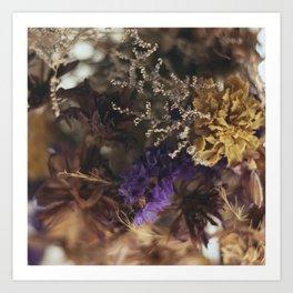 floral blur Art Print