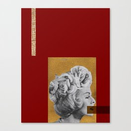 Red and gold no lips Canvas Print