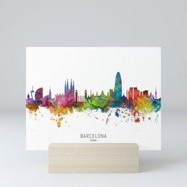 Barcelona Spain Skyline Mini Art Print