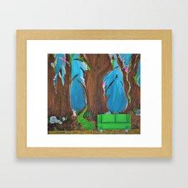 Fairy, Fairies. Abstract. Original Painting. Forest. Fantasy Forest. Fantasy. Jodilynpaintings. Framed Art Print