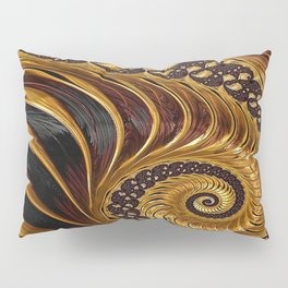 Elegant Black Gold Shell Pillow Sham