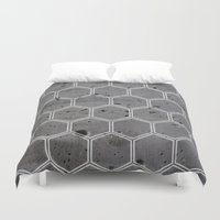 honeycomb Duvet Covers featuring Honeycomb by _Moementum
