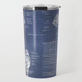 Apollo 11 Saturn V Command Module Blueprint in High Resolution (dark blue) Travel Mug