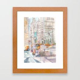 Reflection in the New York City windows II Framed Art Print