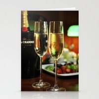 champagne Stationery Cards featuring champagne by laika in cosmos