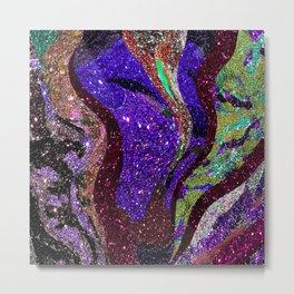Retro Glitter Sky - Purple Palatte Metal Print