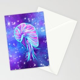 The Celestial Chambered Nautilus Stationery Cards