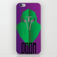 mf doom iPhone & iPod Skins featuring MF DOOM by Tonytintheplace