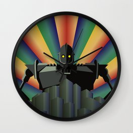 The Iron Giant - digital version Wall Clock