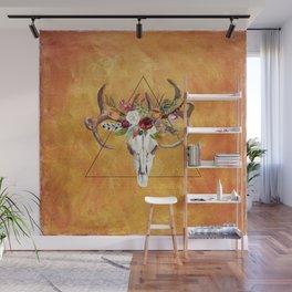 Boho Deer Skull Wall Mural