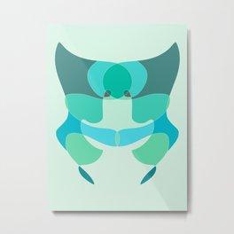 Blue Symm Metal Print