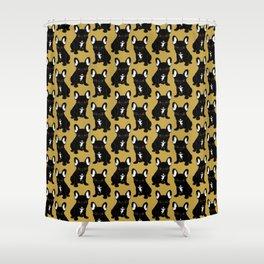 Brindle French Bulldog Shower Curtain