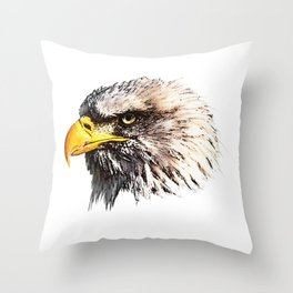 Bald Eagle, bird of prey, bird friend Throw Pillow