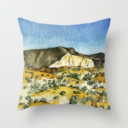 Dunes & and the Mountains Throw Pillow